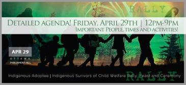 agenda, 2016 Ottawa Solidarity rally, indigenous adoptee ottawa