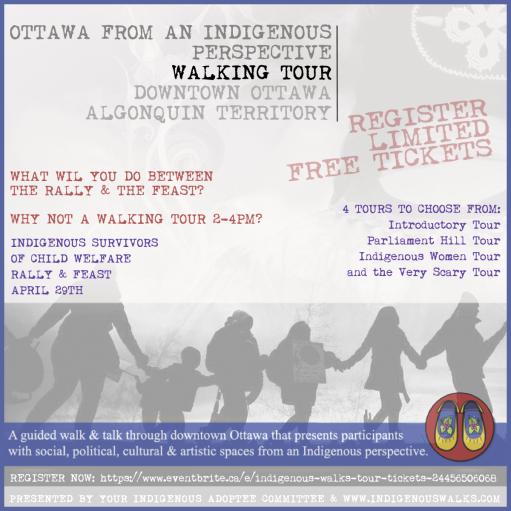walkingtour, rally, indigenous adoptee ottawa, 2016