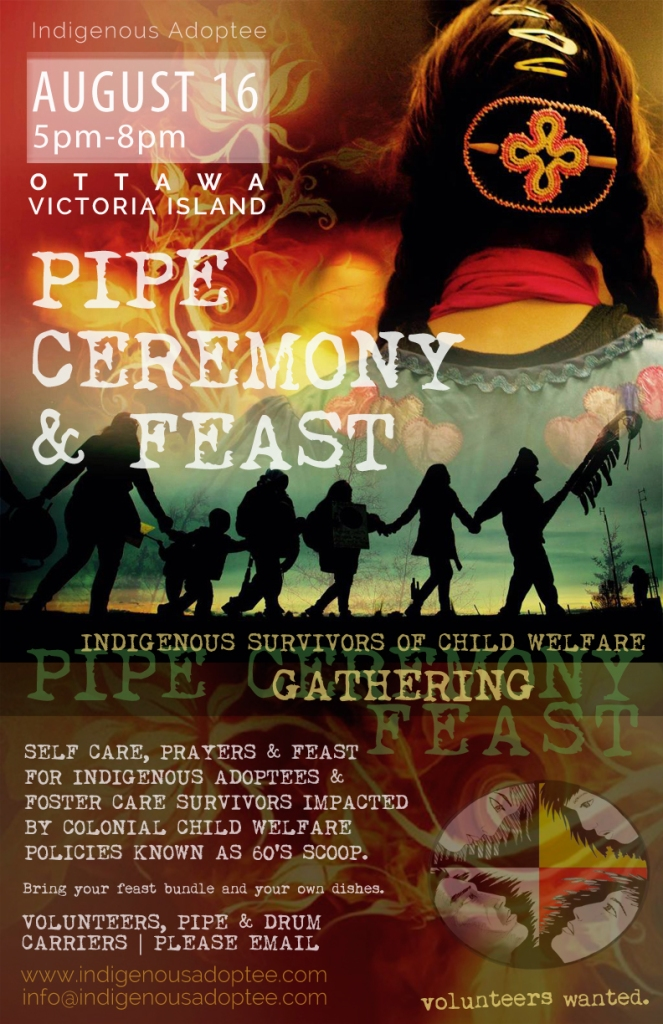 60s scoop, indigenous adoptee, pipe ceremony, feast, ottawa,